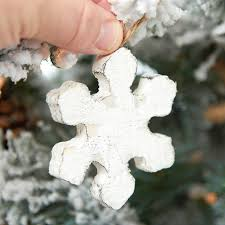 rustic whitewashed wood snowflake ornament ornaments