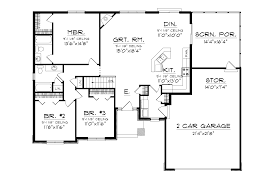 open concept ranch floor plans higgens traditional ranch home plan 051d 0674 house plans and more