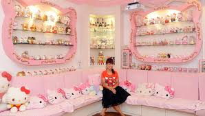 women decorate their homes thoroughly in a hello kitty theme home