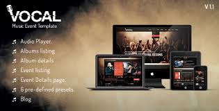 20 free u0026 premium music html website templates