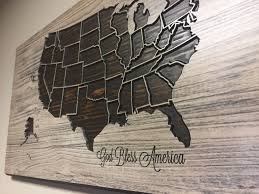 god bless america decor wooden us map wood wall art home wall god bless america decor wooden us map wood wall art home wall decor