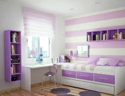 girls purple bedding white ceiling and cream soft grey wall cool girls rooms with small