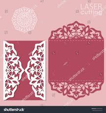 Wedding Invitation Card Template Laser Cut Wedding Invitation Card Template Stock Vector 516143434