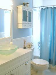 Laminate Flooring Blue Nautical Themed Bathroom Lighting Undermount Sink Vanity White