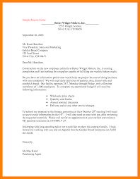 Example Business Letterhead by 8 Inquiry Letter For Business Sephora Resume