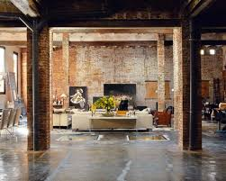 exposed brick wall lighting favored vintage style living room decorating design with exposed