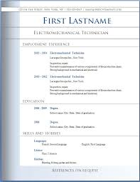 resume format word simple resume template free microsoft word for your cv