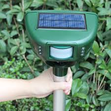 scarecrow motion activated ultrasonic repellent solar powered
