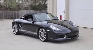 porsche boxster 2016 black 2011 porsche boxster spyder basalt black manual with 5 700 miles