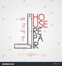 quote for home repair house repair elements icons cards illustration stock vector