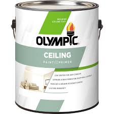 shop olympic ceiling tintable flat latex interior paint and primer