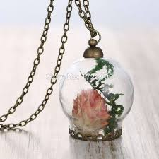 glass bottle necklace images 3pcs lot handmade diy glass bottle pendant dry flower necklace jpg