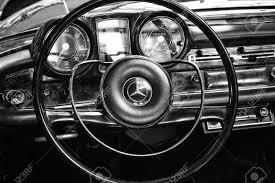 mercedes dashboard berlin may 11 steering wheel and dashboard of two door roadster