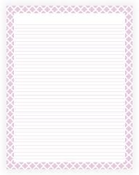 printable lined paper editable editable lined paper light purple and white quatrefoil