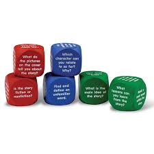 printable question dice reading comprehension cubes learning resources