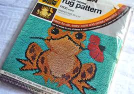 latch hook rugs in the 80s like totally 80s