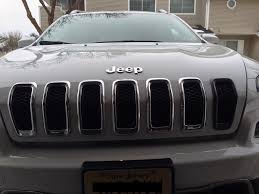 jeep grill decal oem trailhawk grill inserts 2014 jeep cherokee forums