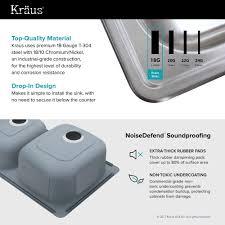 Kitchen Sinks Top Mount Stainless Steel Kitchen Sinks Kraususa Com