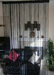 interior beautiful black string bead room dividers as room