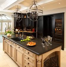 classic modern minimalist kitchen design with black pearl granite