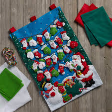 bucilla seasonal felt home decor advent calendar kits