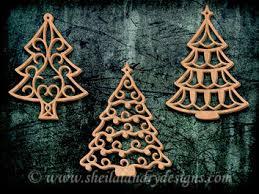 sldk395 10 filigree tree ornaments papercutting