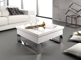 Table Ronde Extensible But by Table Basse Blanche Con Design En Laqu Blanc Brillant Avec Une
