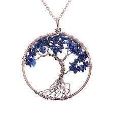 necklace with stone pendant images Magnificent handmade tree of life natural stone pendant necklace jpg