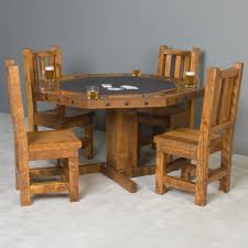 Poker Dining Table by Timberwood Rough Sawn Poker Table With Reversible Top
