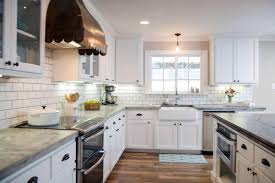 Copper Kitchen Decor by Kitchen White Accent Wall Design With Recessed Lighting Also