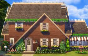 a frame home country a frame home sims 4 houses