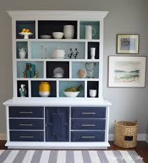 furniture white and dark blue dining room hutch for beautiful