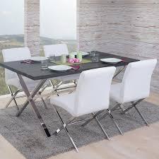 Tischdeko Esszimmertisch Fano Tisch 4 Stühle 3d Struktur Kunstleder Dunkle Eiche