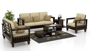 Wooden Sofa Buy Wooden Sofa Set Online Best Designs At - Teak wood sofa set designs
