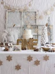 white party table decorations ideas for a winter one derland birthday party baby aspen blog
