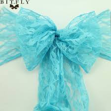 Diy Chair Sashes Online Shop 100pcs Lace Chair Sashes Bow Cover Lace Fabric For