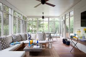 porch ceiling fan porch traditional with outdoor seating wall