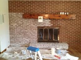 White Washed Stone Fireplace Life by White Washing Was Done With Sponge U0026 Semi Gloss Latex White