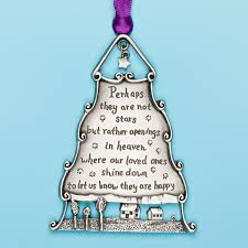 pewter ornament to memorialize loved one