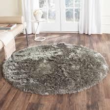safavieh handmade silken glam paris shag silver rug 7 u0027 round