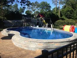 Inground Pool Ideas Beautiful Semi Inground Radiant Freeform Pool Outdoor Pool