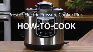 presto kitchen appliances how to cook with the presto electric pressure cooker plus youtube