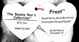 frost ty beanie boo arctic fox
