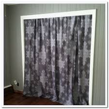 Shower Curtain For Closet Door Lovely Closet Door Ideas With Curtains Compilation Home