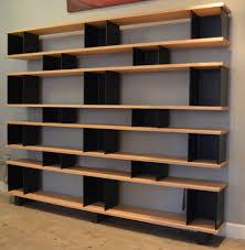 Illustra Desk With Hutch by Large U0027horizontale U0027 Oak And Blackened Steel Shelving Unit By