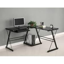 images pour bureau d ordinateur bureau d ordinateur en coin de verre et de métal noir walmart canada