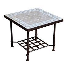 table basse bout de canapé table basse en zellige bout canapé mosaïque de céramique et fer