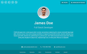 resume website template material design resume cv portfolio template sphere