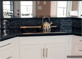 black glass backsplash kitchen tile backsplash with black cuntertop ideas white cabinet black