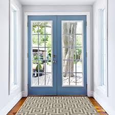 How To Clean Indoor Outdoor Rug Grey Geometric Maze Non Slip Flatweave Rugs Soft Easy Clean Indoor